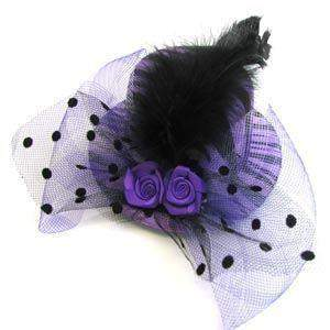 Tea Party Hat Favor - Purple Zebra - Roses And Teacups