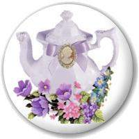 Teapot Magnet Favors - Roses And Teacups