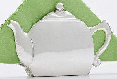 Teapot Napkin Holder - Roses And Teacups