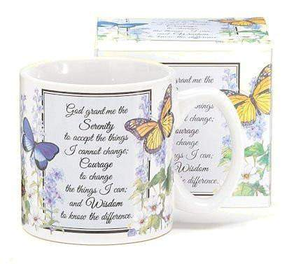 The Serenity Prayer Butterfly Mug - Roses And Teacups