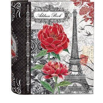 Touch of Romance Address Book - Belle France - Only 2 Left - Roses And Teacups
