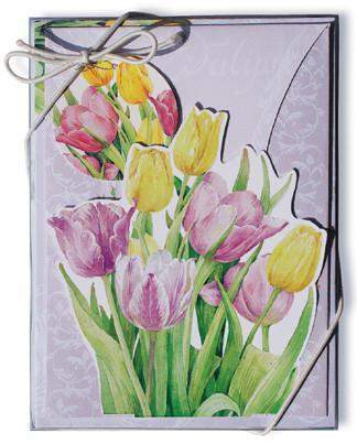 Tulip Pop Up Note Cards and Envelopes - Roses And Teacups