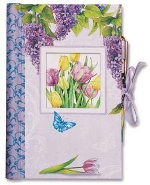 Tulips Hardcover Writing Journal - Roses And Teacups
