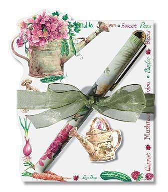 Vegetable Garden Die Cut Notepad and Pen - 2 Left! - Roses And Teacups