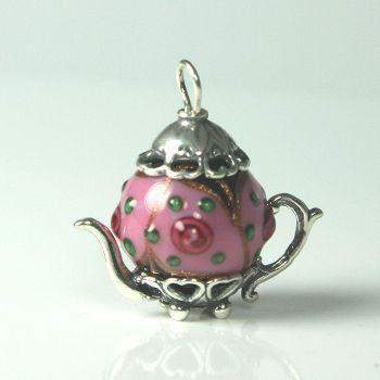 Victorian Dangle Necklace 17.5 with Teapot Charm 13 Styles - Roses And Teacups