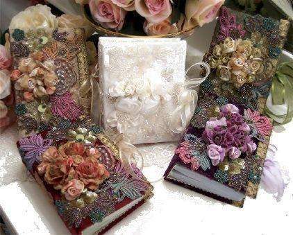 Victorian Splendor Photo Albums - Roses And Teacups