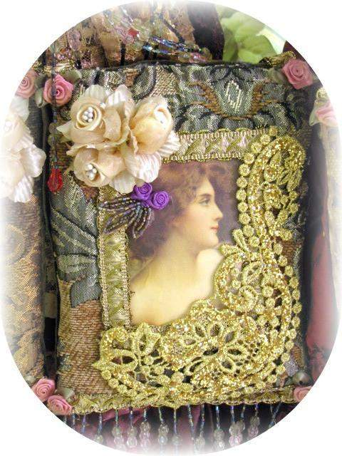 Victorian Splendor Sachets Sage - Roses And Teacups