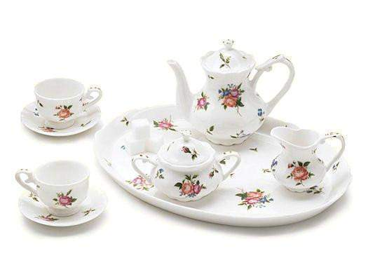 Wedgestone  Girls' Tea Set - Roses And Teacups