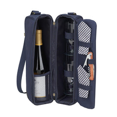 Classic Sunset Deluxe Wine Carrier - Navy