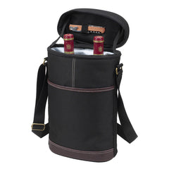 Two Bottle Wine Carrier - Black