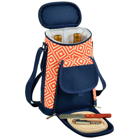 Diamond Two Bottle Carrier with Cheese Set
