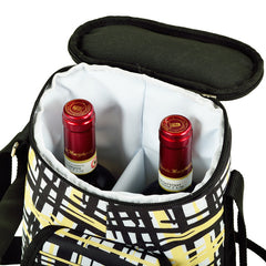 Paris Two Bottle Carrier with Cheese Set