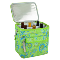 Paisley Green Multi Six Bottle Wine Carrier