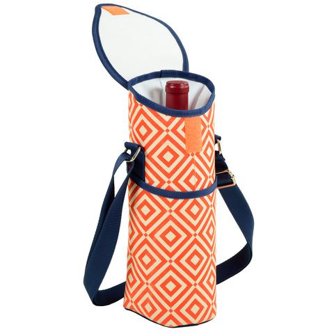Diamond Orange Single Bottle Wine Tote