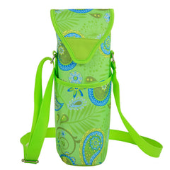 Paisley Green Single Bottle Wine Tote