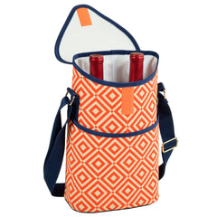 Diamond Orange Two Bottle Wine Tote