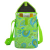 Image of Paisley Green Two Bottle Wine Tote