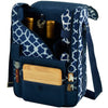 Image of Trellis Blue Bordeaux Wine & Cheese Carrier