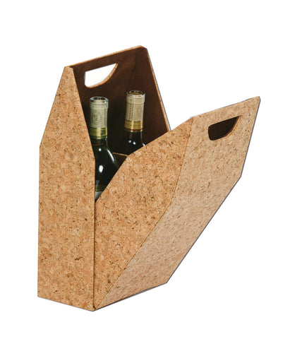 Double Wine Bottle Box - Cork