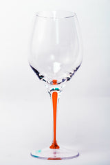 Tears & Cheers White Wine Glasses Orange (Set of 4)