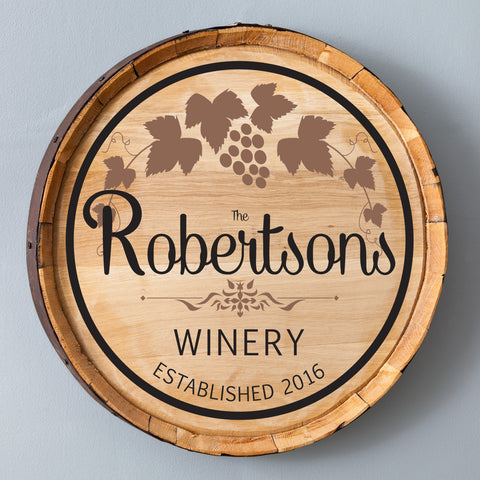 Cabernet Wine Barrel Wall Art