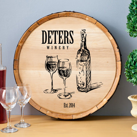 Family Winery Wine Barrel Wall Sign