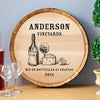 Image of Wine And Cheese Wine Barrel Wall Sign