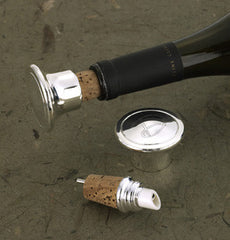 Wine Bottle Stopper & Pourer (silver plated)