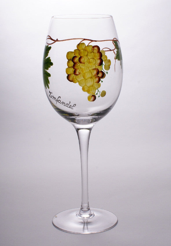 Dionysus White Zinfandel Wine Glasses (Set of 4)