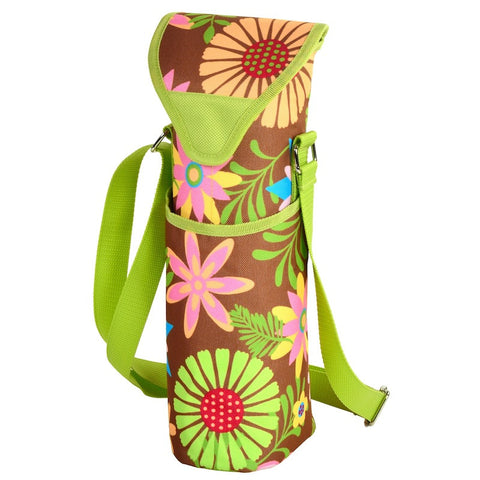Floral Single Bottle Wine Tote