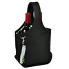 Image of Black Open Two Bottle Wine Carrier
