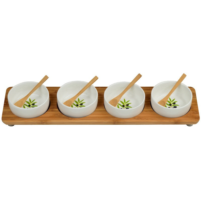 Four Bowl in Line Serving Platter