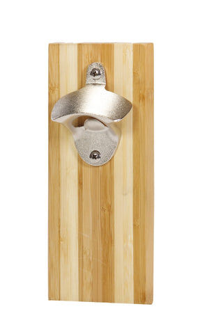 Magnetic Bamboo bottle opener