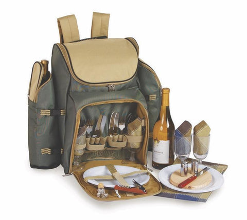 Tandoor 4 Person Deluxe Picnic Backpack