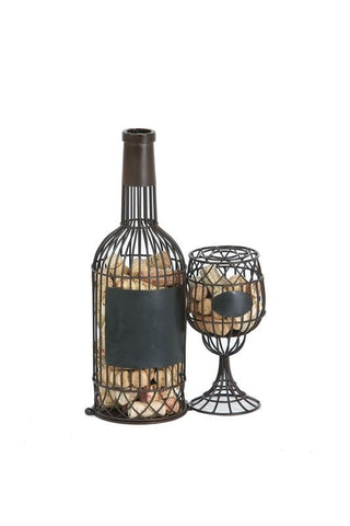 Bottle-Glass Wine Cork Holder