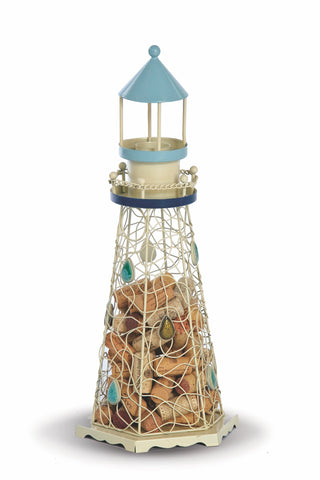 Lighthouse shaped Cork Caddy displays and stores wine corks