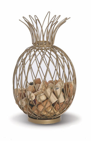 Pineapple Cork Caddy displays and stores wine corks
