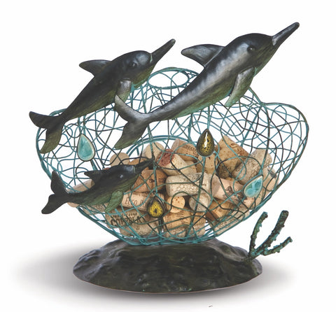 Dolphin Sea Life Cork Caddy displays and stores wine corks