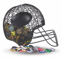 Football Helmet Cap Caddy displays and stores bottle caps