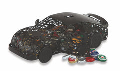 Race Car Cap Caddy displays and stores bottle caps