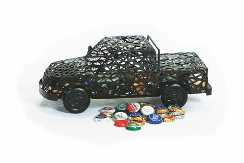 Truck Cap Caddy displays and stores bottle caps