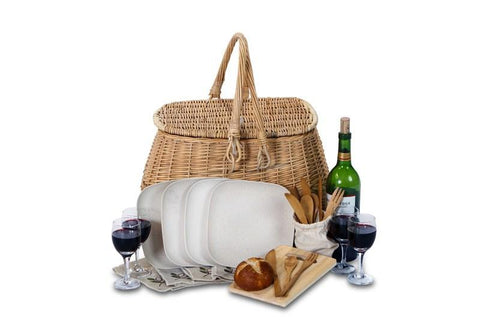 Four Person Eco Picnic Basket
