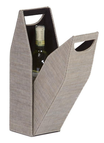 Single Wine Bottle Box - Tweed