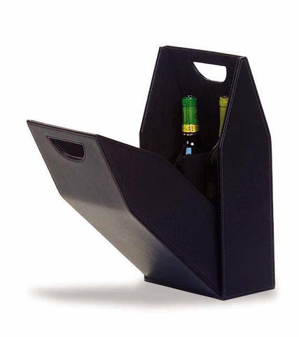 Double Wine Bottle Box - Black