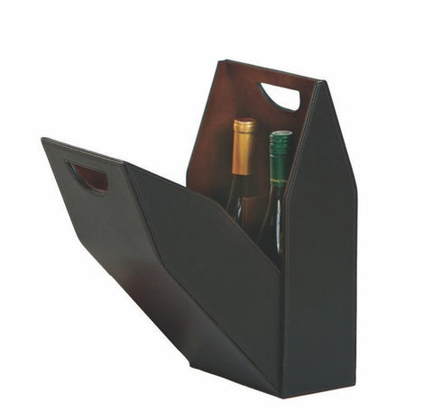 Double Wine Bottle Box - Brown