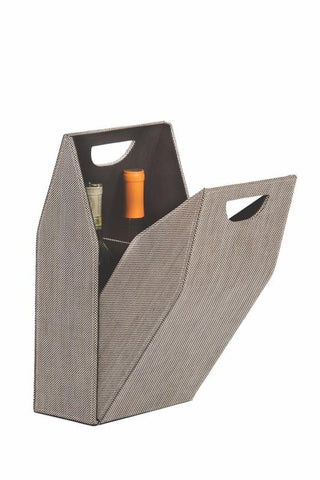 Double Wine Bottle Box - Tweed
