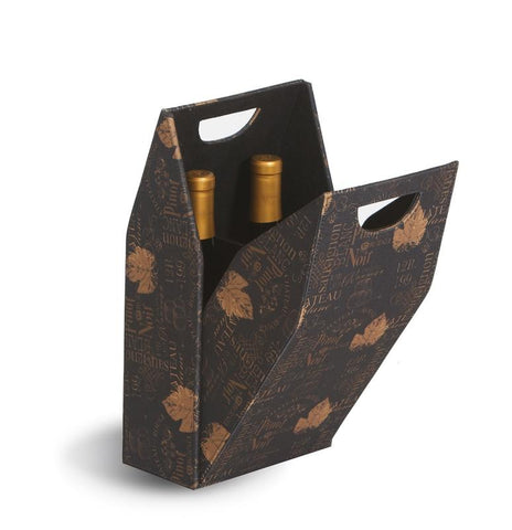 Double Wine Bottle Box - Wine Print