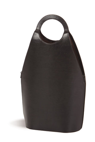 Fashionable double bottle carrier with vegan leather