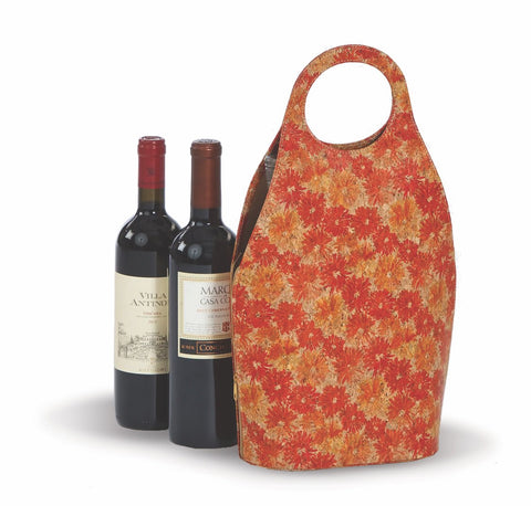 Fashionable printed cork double bottle carrier