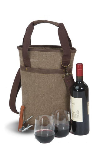 Omega Single Wine Bottle Bag  - Brown